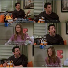 Friends Funny Moments, Friends Scenes, Funny Friend Memes, Friends Episodes, Friends Tv Show, Funny Relatable Memes, Friends In Love, Joey And Phoebe, Joey Tribbiani