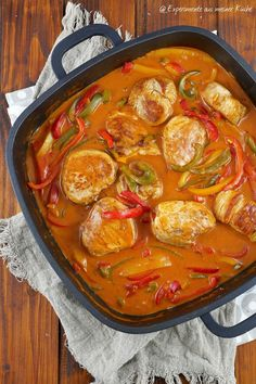 Pork fillet in paprika cream sauce - experiments from my .- Pork fillet in paprika cream sauce Recipe Plats Weight Watchers, Weight Watchers Meals, Pork Recipes, Snack Recipes, Pork Fillet, Cream Sauce Recipes, Healthy Snacks, Healthy Recipes, Easy Recipes
