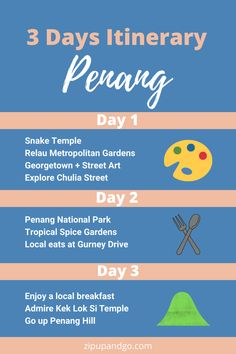 Are you planning a trip to Penang Malaysia? Although it is a small island, there are lots of things to do in Penang and lots of great food to try! Check out this perfect Penang itinerary that covers all the spots you shouldn't miss! #penang #penangtravel #penangmalaysia #malaysiatravel #smallisland #penangitinerary #travelasia #explore Penang Hill, Batu Ferringhi, Malaysia Travel Guide, Penang Island, Spice Garden, Oriental Hotel, Night Book, Packing Checklist, Small Island