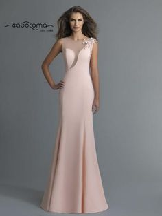 Saboroma - 4037 Floral Jewel Accent Sheer Cutout Mermaid Gown In Pink and Orange Bridesmaid Dresses, Prom Dresses, Wedding Dresses, Dresses Elegant, Mother Of Groom Dresses, Mermaid Gown, Beautiful Gowns, Special Occasion Dresses, Evening Dresses