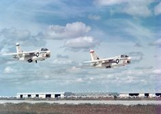 Pair of US Navy Vought A-7 Corsair IIs