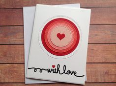 Anniversary card, love heart card,  love note card, birthday card, blank handmade card, greeting cards, homemade cards by PinkyPromiseBargains on Etsy