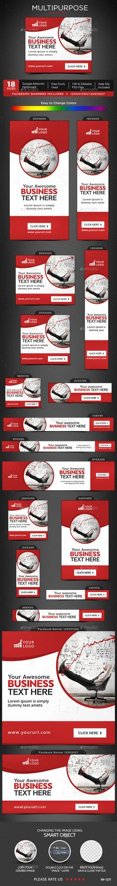 Multipurpose Web Banners Template PSD. Download here: http://graphicriver.net/item/multipurpose-banners/15983226?ref=ksioks