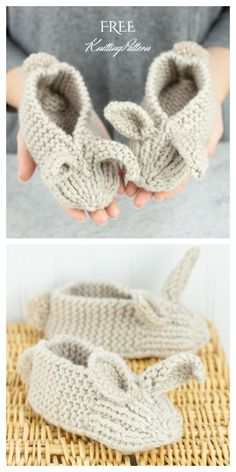 – Stricken ist so einfach wie 3 Stricken … – – Family Bunny Slippers – Kostenloses Muster, Adorable Brosche Free Crochet Pattern – – Bunny Ear Pillow Free Pattern # Bunny Ear Pillow Free mini konijntjes en … Baby Knitting Patterns, Knitting For Kids, Knitting For Beginners, Free Knitting, Knitting Projects, Knitting Socks, Crochet Projects, Crochet Patterns, Knitting Needles