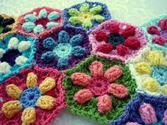 Afbeeldingsresultaat voor crochet hexagon pattern