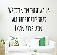 """A """"Story of My Life"""" wall decal. 