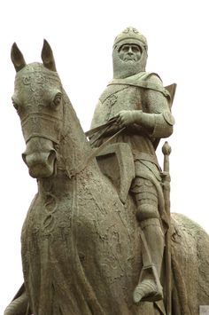 Robert the Bruce. - My ancestor.  We've actually traced my family back to King Robert the Bruce.  Pretty fun!