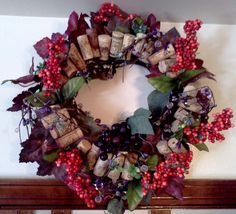 Rustic Wine Cork Wreath