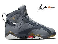 new styles 1e91f 81744 Chaussure Basket Jordan Prix Pour Femme Enfant Air Jordan 7 Retro GS Gris Or