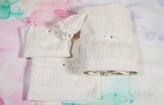 oil cloth set 6 pieces 1406 In the Oil cloth in white and ecru color with decorative fringe rayon and lace trim cm . set underwear 3 pieces breech undershirt cap cotton towel cm towel for the priest Cotton Sewing cm Optionally you can get for set baptism Ecru Color, Cotton Towels, Christening, Lace Trim, Underwear, Handmade Items, This Or That Questions, Sewing, Etsy