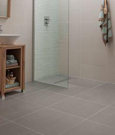 2d62b4a4a9 Topps Tiles Regal Vanilla Polished for walls and Ash Matt for floor Grey  Bathroom Floor