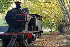 otoño 2020 parque Eva Hajduk la famosa locomotora de la estación ferroviaria - Ranelagh, Berazategui, Buenos Aires Buenos Aires, Parking Lot, Parks