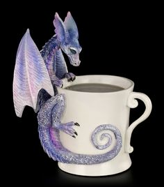 Dragon Figurine - Whatcha Drinkin Faery by Amy Brown ✓ Fast Delivery ✓ Buy now cheap at www. Amy Brown, Big Dragon, Dragon Art, Polymer Clay Dragon, Polymer Clay Art, Fantasy Dragon, Fantasy Art, Fantasy Creatures, Mythical Creatures