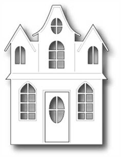 Christmas Home, Christmas Crafts, Christmas Decorations, House Template, Memory Box Dies, Putz Houses, Glitter Houses, House Drawing, Paper Houses