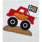 Monster Truck Applique - to make my own tooth fairy pillow