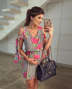 {De hoje } Vestido @melovemodas Estampa linda, fresquinho, estiloso ♥️ • #lookdodia #lookoftheday #ootd #selfie #blogtrendalert