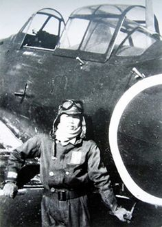 A portrait of Nonpu Tani, one of the first kamikaze pilots confirmed to have hit a U.S. Navy ship (Provided by Eifu Tani)