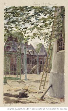 Fête des Porcherons aux Tuileries  Auguste Louis Marie Ottin, 1883