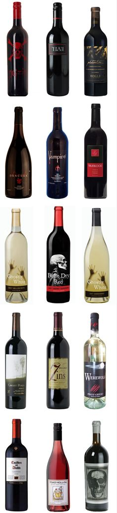 Wines for a halloween themed gathering: ghost pines & 7 deadly zins are 2 of my favorites. phantom has been on my wish list to try Holidays Halloween, Halloween Themes, Halloween Party, Witch Party, Whimsical Halloween, Halloween Weddings, Halloween Vampire, Cocktails Halloween, Halloween Wine Bottles