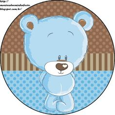 Kit Imprimible GRATIS Osito Baby Shower Niño, Baby Shower Cakes, Baby Shower Parties, Imprimibles Gratis Baby Shower, Baby Painting, Baby Shawer, Sweet Pic, Tatty Teddy, Party Kit