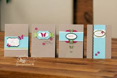 Stampin' Up! Clean and Simple Cards...great color combinations