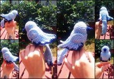Horgolt Kismadár  Minta: https://limegreenlady.wordpress.com/2015/03/20/crochet-bird-pattern/