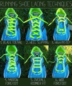 guide to lacing your running shoes