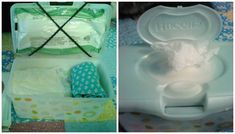 """""""It really does work!"""" Diaper bag changing kit in wipes container"""