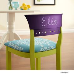 Use tintable chalkboard paint on surprising surfaces for fun pops of color in your kid's room or playroom.