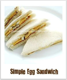Priya's Versatile Recipes: Simple Egg Sandwich Egg Recipes Indian, Ethnic Recipes, Egg Sandwiches, Eggs, Simple, Food, Kitchens, Egg Salad Sandwiches, Essen