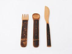 Bamboo and Woodwork Cutlery by Saya Okihara and Kazuho Shimomoto