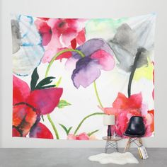 Buy FLORAL PRINT Wall Tapestry by TEN-iD. Worldwide shipping available at Society6.com. Just one of millions of high quality products available.