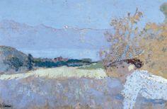 Edouard Vuillard  (French, 1868-1940)  Lucie Hessel à Romanel