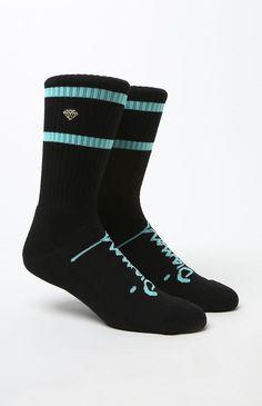 DMND High Stripe Crew Socks