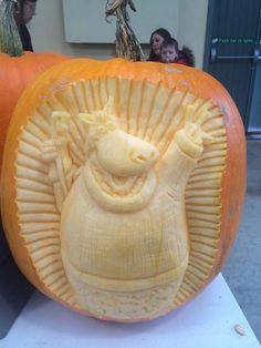 An unusual pumpkin carving from The Big Sheep in North Devon