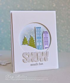 My Joyful Moments— Papertrey Ink Products: City Scene stamp set and dies In The Meadow Stamp Set Wonderful Words Snow stamp set and die