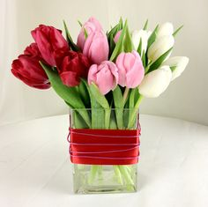 to express love with something other than roses ... tulips are delightful! From Ashland Addison Florist in the Chicago area.