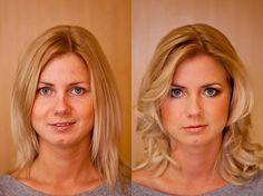 Vorher / Nachher - ARISTOS Fotostudio - Make-up / Before & After Makeup Gala Make Up, After, Braut Make-up, Beauty, Makeup, Photo Studio, Woman, Nice Asses, Make Up