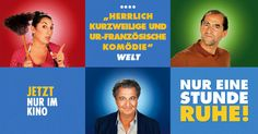 #Welt #NureineStundeRuhe - JETZT nur im KINO. Monsieur Claude, Comedy, Florian, Star Wars, Movies, Movie Posters, Movie, Storyboard, Film Director