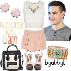 """""""Backstage with Liam"""" by abbytamase on Polyvore ( love this minus the liam )"""