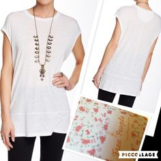 ❤️FREE PEOPLE white long tunic NWT size med❤️ ❤️Just in FREE PEOPLE long white tunic NWT size MED❤️ Free People Tops Tees - Short Sleeve