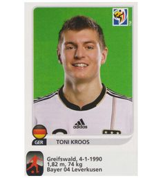 Panini WM 2010 Toni Kroos Update Sticker, Stickerpoint