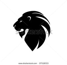 lion's head in profile. Template Logo.  Company logo design