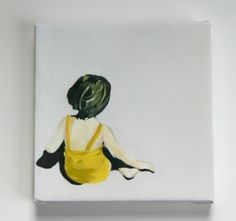 Girl+In+The+Yellow+Suit+canvas+print+by+kikiandpolly+on+Etsy,+$38.00