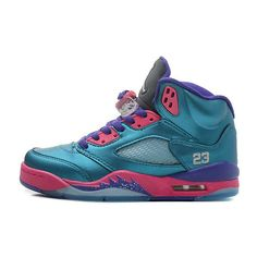 more photos 5dec5 b741d Girls Air Jordan 5 Retro GS Tropical Teal White-Digital Pink-Court Purple  For Sale from Reliable Big Discount! OFF! Girls Air Jordan 5 Retro GS  Tropical ...