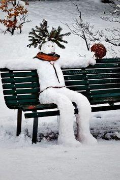 Cool snowman :) Shelmerdine Garden Center at 7800 Roblin Blvd in Headingley, MB. #winnipeg