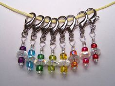 Crochet Stitch Markers Iridescent Rainbow by proverb31projects, $12.50