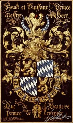 "(196) Albert, duc de BAVIÈRE (1528-1579) -- ""Hault et puissant prince, messire Albert, duc de Bavière, prince de l'Empire"" -- Armorial plate from the Order of the Golden Fleece, 1559, Saint Bavo Cathedral, Gent"