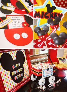 convites comestivel para festa do mickey - Buscar con Google