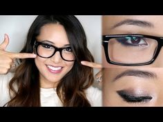 Makeup For Glasses!~ FromHeadtoToe.  LOVE this tutorial for an easy to replicate makeup style.  <3